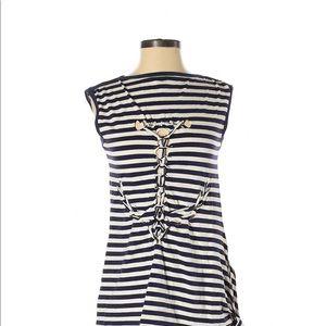 Jean Paul Gaultier for Target navy & cream top